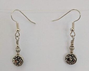 New Beginnings Earrings - Moon and Stars - Egyptian Goddess Nut