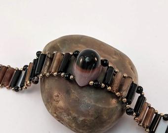 Handmade Evil Eye Agate Bracelet - Protection Amulet - Egyptian - Victorian