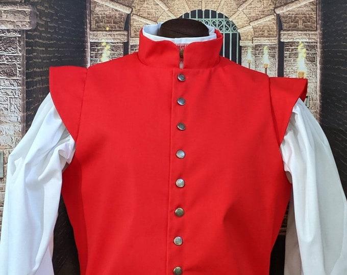 In Stock! Med Red Fencing Doublet Gipsy Peddler SCA Rapier Armor