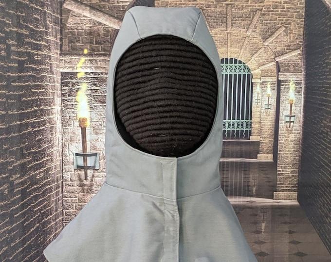 In Stock! Gray - Discontinued Color Undermask Fencing Hood SCA Rapier Armor