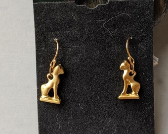 Sacred Cat Earrings - Goddess Bastet - Ancient Egyptian Jewelry