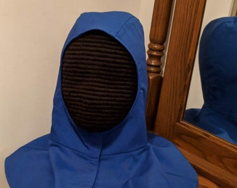 New Color! Blue Undermask Fencing Hood Gipsy Peddler SCA Rapier Armor