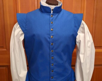In stock! Medium Royal Blue Fencing Jerkin Doublet - Gipsy Peddler SCA Rapier Armor