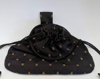 Black Weston Sussex Hoop Belt Pouch Bag - Renaissance - Victorian