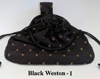 In Stock! Black Weston Drawstring Belt Pouch - Game Bag Renaissance