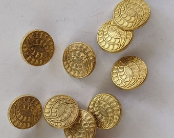 Laurel Wreath  - Metal Shank Buttons -  Renaissance - SCA