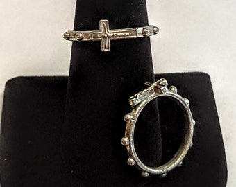 Corpus Rosary Finger Ring - Decade Devotional Ring - Soldier's Rosary
