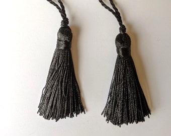 "Pair of Black - 2"" Tassels - Home Decor - Crafts"