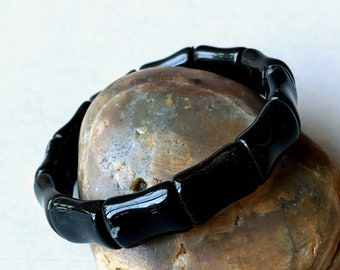 Onyx Dogbone Stretch Bracelet