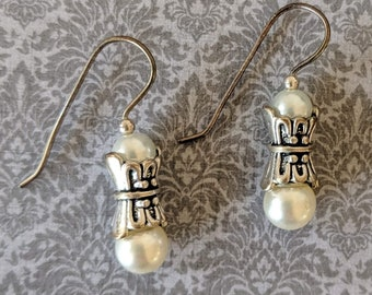 All in One Pearl Earrings - Renaissance