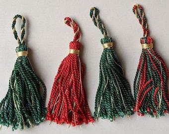 Tassels with Metallic Thread - Red - Green - Sword Tassel - Home Decor