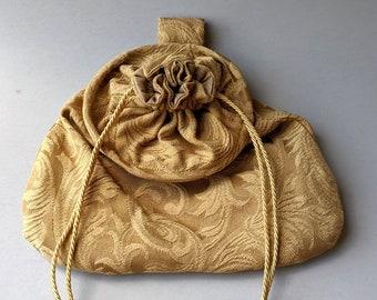 4 Gold Fabric Designs - Hoop Belt Pouch Bag - Renaissance - Victorian