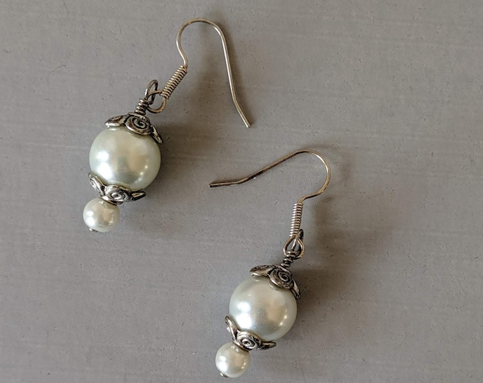 Pearl Earrings - Italian Renaissance - Elizabethan