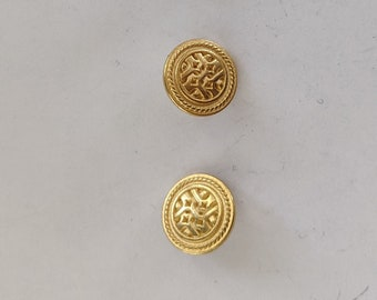 3 Metal Gold Celtic Knotwork Shank Buttons