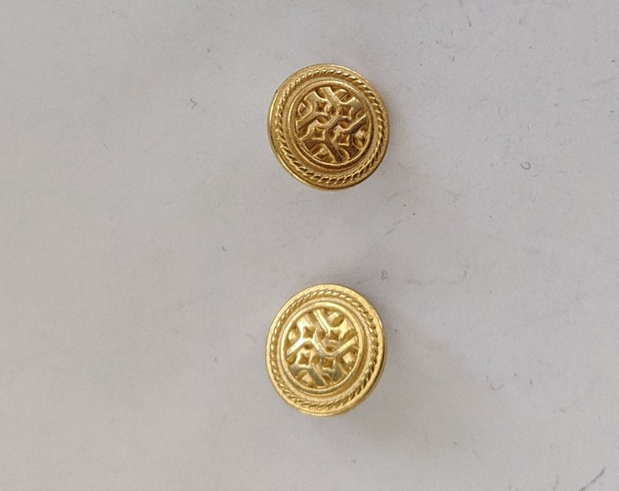 3 Metal Gold Celtic Knotwork Shank Buttons
