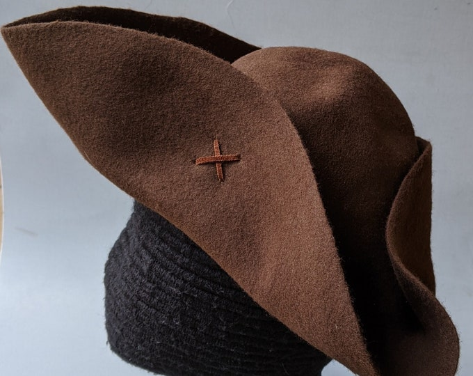 Pauper's Tricorn - Poor Man's Tricorn - Laced Tricorn - Cocked Felt Hat - Colonial Tricorne - Revolutionary