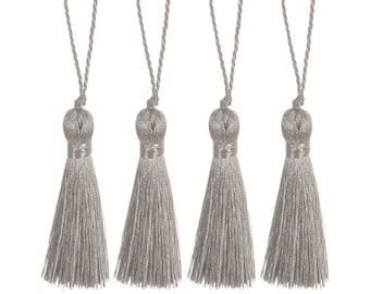 """1 pair of Silver or Gold Metallic 2"""" Tassels - Home Decor Crafts"""