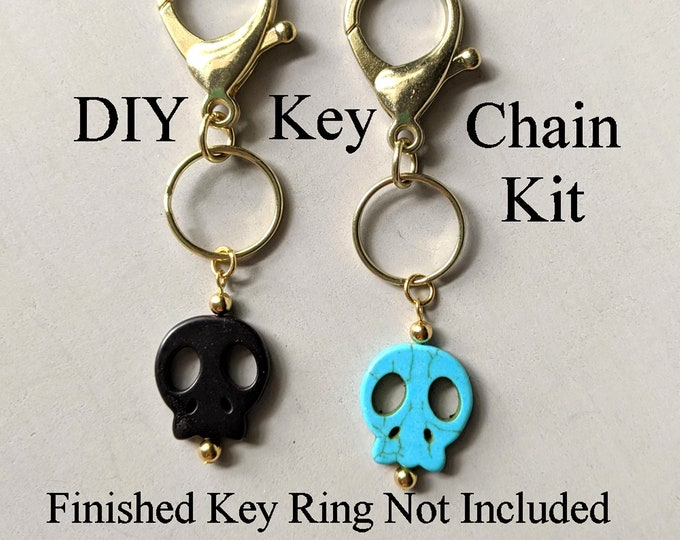 New Kit! DIY Skull Lobster Claw Key Ring - Materials & Instructions