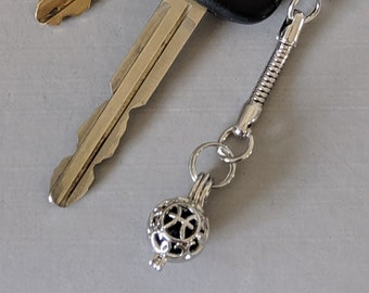 Zodiac Key Chain  - Aromatherapy Pendant - Prayer Box - Astrology