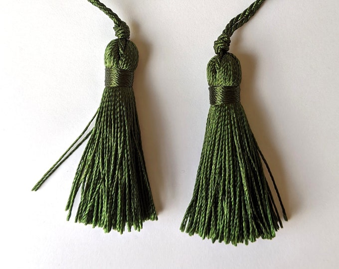 """Pair of Green - 2"""" Tassels - Home Decor - Crafts"""