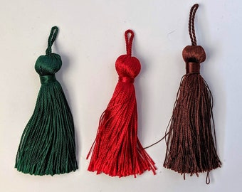 Rounded Top Tassels - Home Decor - Key Chains - Zipper Pulls - Pendants - Rosaries