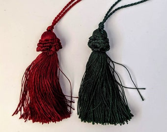 Ruched Top Tassels - 2 Sizes - Colors - Home Decor - Crafts