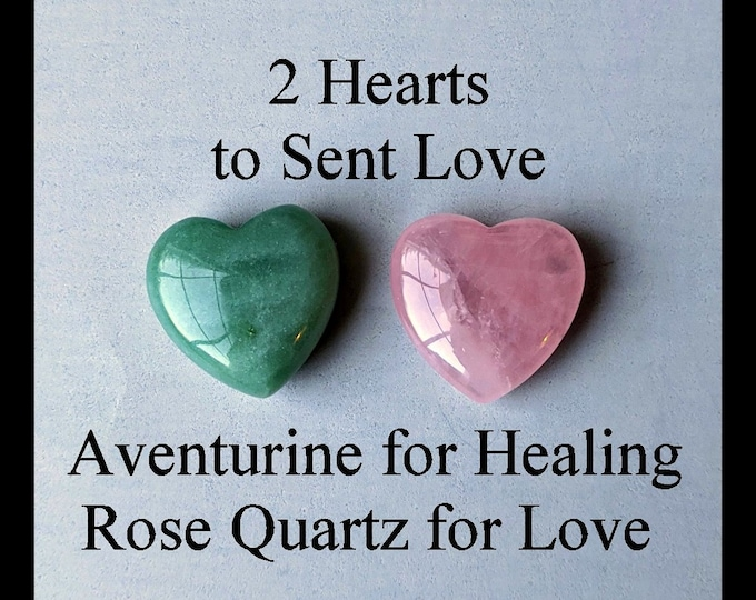 2 Hearts - Rose Quartz - Green Aventurine - DIY Love Yourself & Everyone Else!