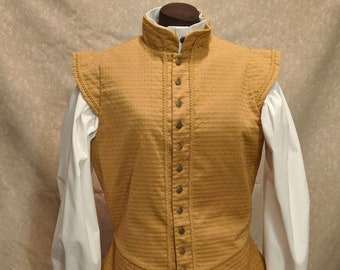1 in stock! Medium Gold Sussex SCA Fencing Doublet - Gipsy Peddler Rapier Armor