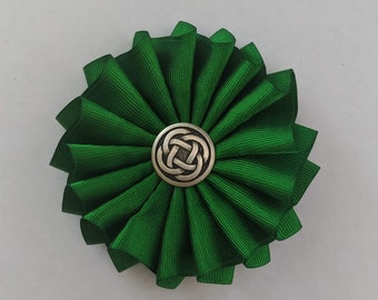 Celtic Cockade for Tricorn or Bicorne - Society of United Irishmen - Pleated