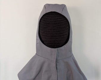 In Stock! Gray - Discontinued Color Undermask Fencing Hood SCA Rapier Armor
