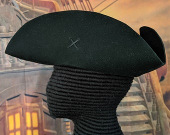 Laced Tricorn - Cocked Felt Hat - Colonial Tricorne - Revolutionary