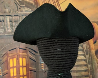 Yorktown Military  Tricorn - American Revolutionary Felt Hat - No Laces -