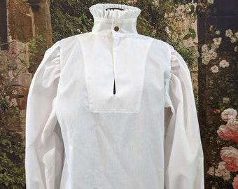 In Stock!  Fencing Shirt w Short Ruff Collar & Cuffs SCA Rapier Armor