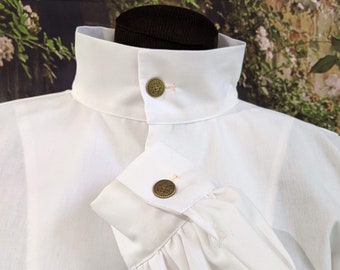 Basic Fencing Shirt with Buttoned Collar and Cuffs - SCA Rapier Armor