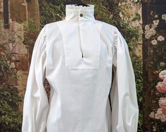 Rapier Shirt - Box Pleated Ruffle - Gipsy Peddler SCA Fencing Armor