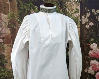 Rapier Shirt Blackwork Collar - Gipsy Peddler SCA Fencing Armor
