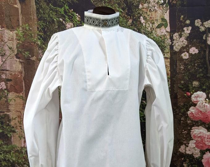 Rapier Shirt Blackwork Collar - Gipsy Peddler SCA Fencing Armor
