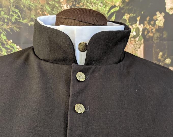 In Stock! XL Black Fencing Doublets - Gipsy Peddler SCA Rapier Armor