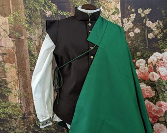 1 in stock! Green SCA Fencing Half Cape - Gipsy Peddler Rapier Armor