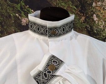 In Stock! Rapier Shirt Blackwork - Gipsy Peddler SCA Fencing Armor