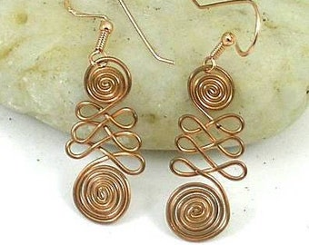 Double Sacred Spiral Earrings