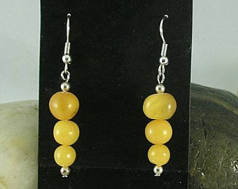 Stacked Butterscotch Amber Earrings