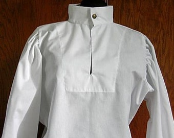 All Sizes In stock! White Fencing Shirt - Buttoned - SCA Rapier Armor