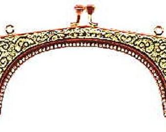 Ornate Scroll Metal Purse Frame - Renaissance Handbag - Victorian