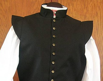 Small Black Fencing Jerkin Doublet - Gipsy Peddler SCA Rapier Armor