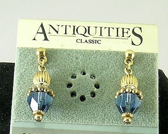 Greek Sapphire Cone Earrings - Elizabethan Renaissance - Victorian