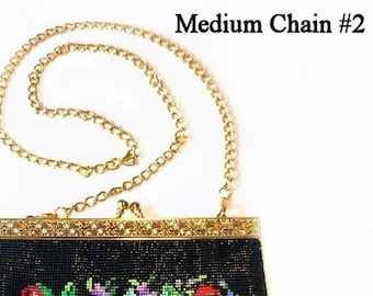 3 Styles Chains for Purse Frames - Goldtone - Renaissance Handbag