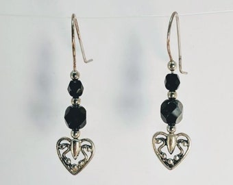 Metal Hearts - Mother's Day Crystal Earrings - Valentine - Birthday