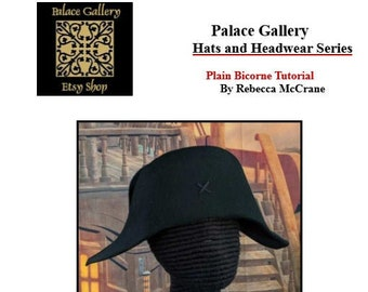 DIY  Plain Bicorne  - Hat Making Tutorial - DIY Bicorne
