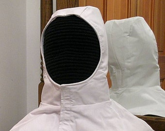 In Stock! White Undermask Fencing Hood - SCA Rapier Armor - Arming Cap - Coif